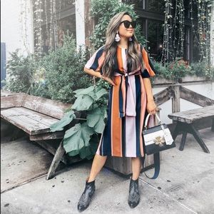 Lulu's striped midi dress